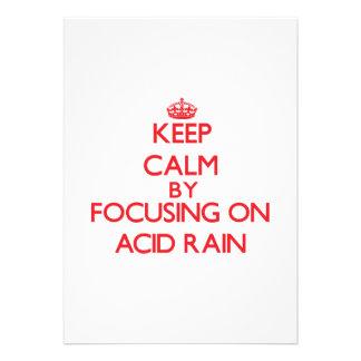 Guarde la calma centrándose en la lluvia ácida invitación