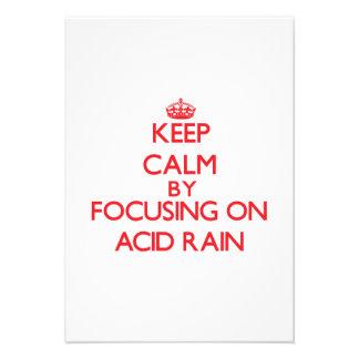 Guarde la calma centrándose en la lluvia ácida anuncios