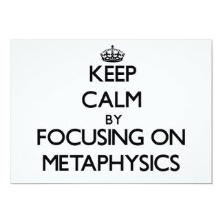 Guarde la calma centrándose en la metafísica invitación 12,7 x 17,8 cm