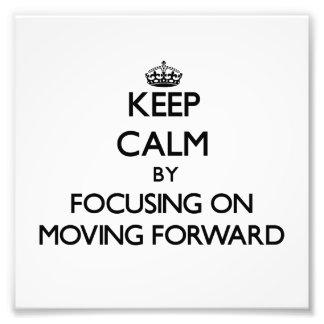 Guarde la calma centrándose en la mudanza adelante