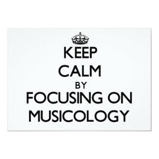 Guarde la calma centrándose en la musicología invitacion personalizada