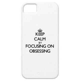 Guarde la calma centrándose en la obsesión iPhone 5 carcasa