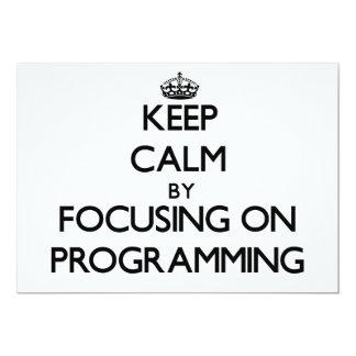 Guarde la calma centrándose en la programación invitacion personalizada