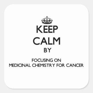 Guarde la calma centrándose en la química calcomania cuadradas personalizada