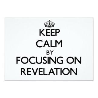 """Guarde la calma centrándose en la revelación invitación 5"""" x 7"""""""