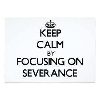 Guarde la calma centrándose en la separación comunicado personalizado