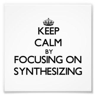 Guarde la calma centrándose en la sintetización