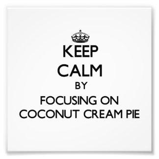 Guarde la calma centrándose en la tarta de crema d