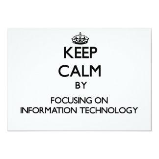 """Guarde la calma centrándose en la tecnología de la invitación 5"""" x 7"""""""