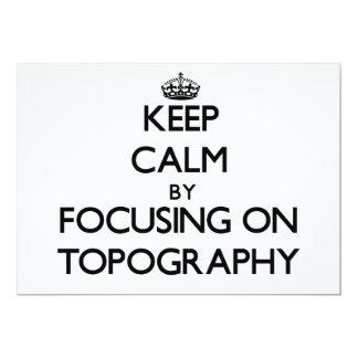 Guarde la calma centrándose en la topografía comunicado personalizado