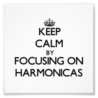 Guarde la calma centrándose en las armónicas