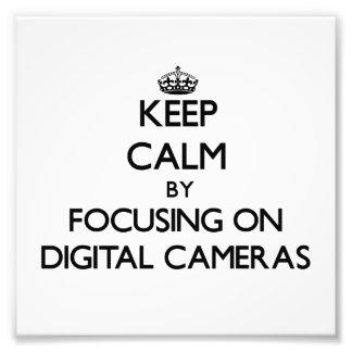 Guarde la calma centrándose en las cámaras digital cojinete