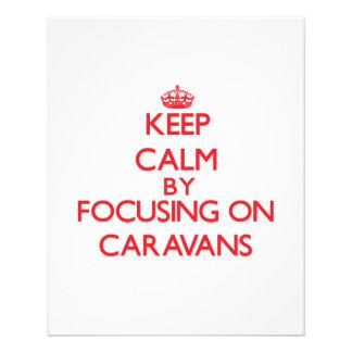 Guarde la calma centrándose en las caravanas flyer personalizado