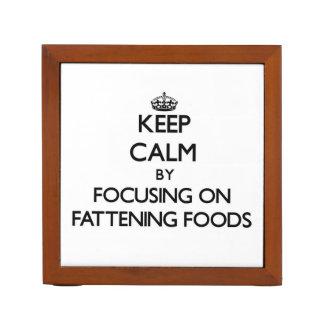 Guarde la calma centrándose en las comidas de la c