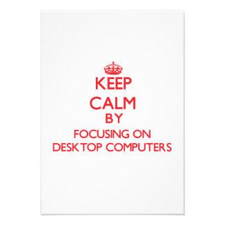 Guarde la calma centrándose en las computadoras de invitaciones personales