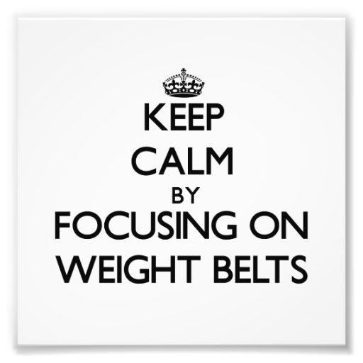 Guarde la calma centrándose en las correas de peso cojinete