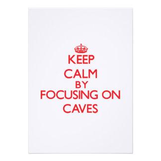 Guarde la calma centrándose en las cuevas comunicados personales