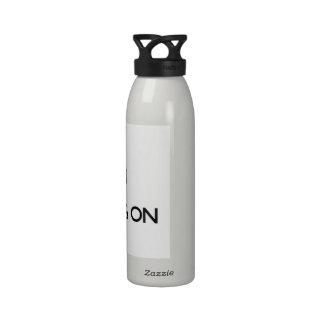 Guarde la calma centrándose en las faldas escocesa botella de agua reutilizable