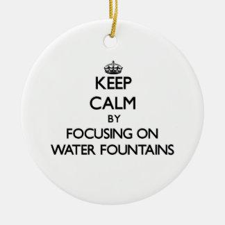 Guarde la calma centrándose en las fuentes de agua adorno redondo de cerámica
