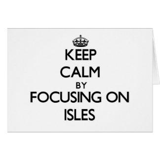 Guarde la calma centrándose en las islas tarjeta pequeña