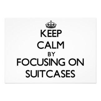 Guarde la calma centrándose en las maletas