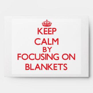Guarde la calma centrándose en las mantas