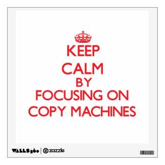 Guarde la calma centrándose en las máquinas de la