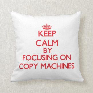 Guarde la calma centrándose en las máquinas de la almohada