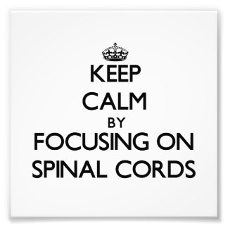 Guarde la calma centrándose en las médulas espinal