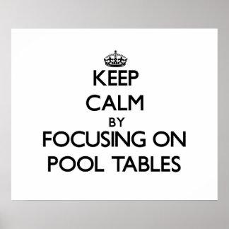 Guarde la calma centrándose en las mesas de billar
