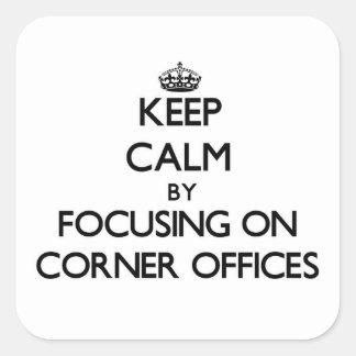 Guarde la calma centrándose en las oficinas de la
