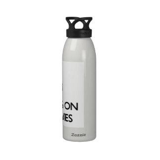 Guarde la calma centrándose en las películas Pg-13 Botella De Agua Reutilizable