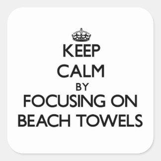 Guarde la calma centrándose en las toallas de play