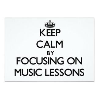 Guarde la calma centrándose en lecciones de música invitación 12,7 x 17,8 cm