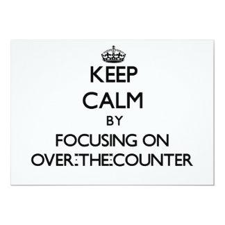 Guarde la calma centrándose en legal comunicado personalizado