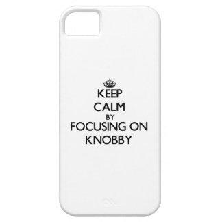 Guarde la calma centrándose en lleno de iPhone 5 carcasa