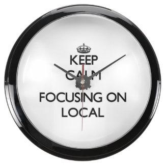 Guarde la calma centrándose en Local Relojes Aquavista