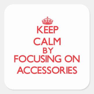Guarde la calma centrándose en los accesorios colcomanias cuadradases
