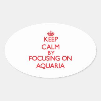 Guarde la calma centrándose en los acuarios pegatina óval personalizadas