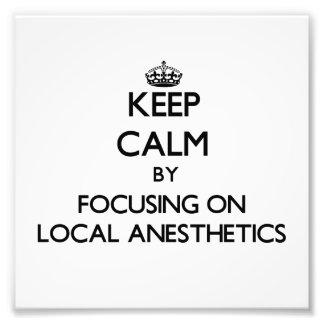 Guarde la calma centrándose en los anestésicos loc fotografías