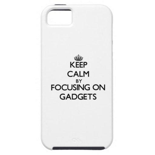 Guarde la calma centrándose en los artilugios iPhone 5 Case-Mate carcasas