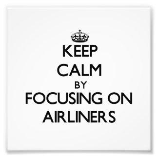 Guarde la calma centrándose en los aviones de pasa
