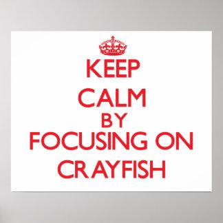 Guarde la calma centrándose en los cangrejos poster