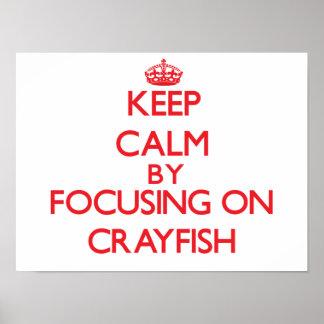 Guarde la calma centrándose en los cangrejos impresiones