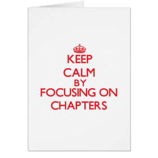 Guarde la calma centrándose en los capítulos tarjetas