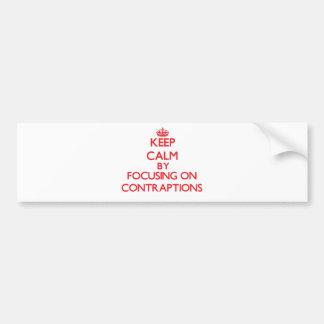 Guarde la calma centrándose en los chismes etiqueta de parachoque