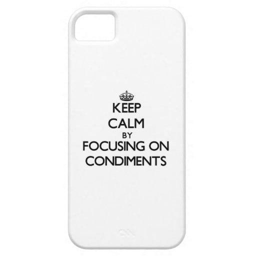 Guarde la calma centrándose en los condimentos iPhone 5 Case-Mate carcasa