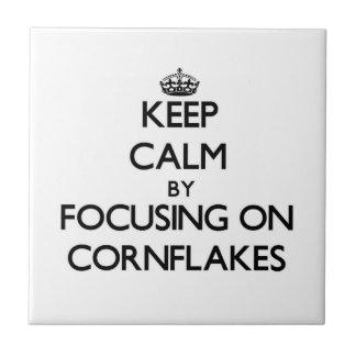 Guarde la calma centrándose en los copos de maíz
