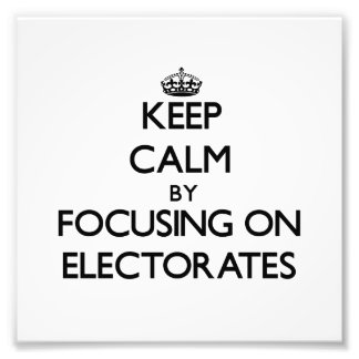 Guarde la calma centrándose en los ELECTORADOS Foto