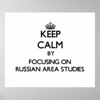 Guarde la calma centrándose en los estudios rusos posters